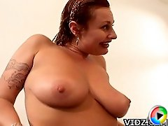 Old bitch  Alicia Blu takes off her bra, seducing her man to satisfy her horny pussy!