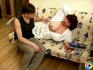 A mature experienced chick rides a young cock for hours and still can�t get enough of a sex!