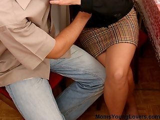 Naughty guy finally gets friend's mom pussy