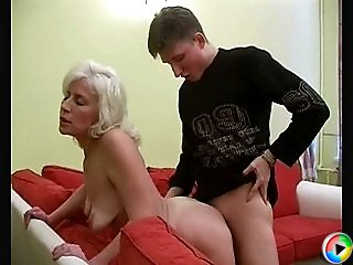 She makes the lad moan with pleasure