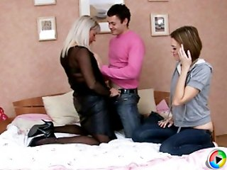 Four new videos from Mature Lessons` threesome orgy educational course