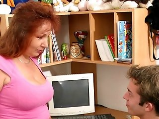 Hot hardcore action with big-titted old whore