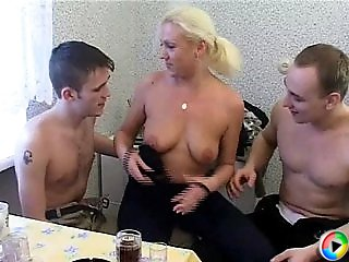 Blonde orgy whore
